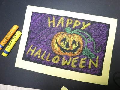 Make Halloween Card Crafts Ideas Kids Adult Diy Cards with Sanding Paper