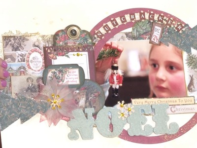 Making a Victorian Christmas Scrapbook Page | In The Studio