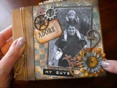 """My Guys"" Paper Bag Mini Album Scrapbook"