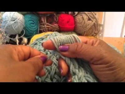 New finger-knitting technique with Judith - Part 2
