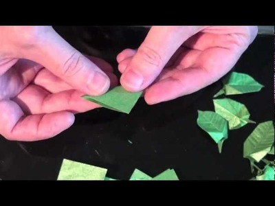Origami Bodhi Bonsai 1 - The Trunk and Leaves