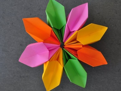 Origami - How to fold a Magic Flower