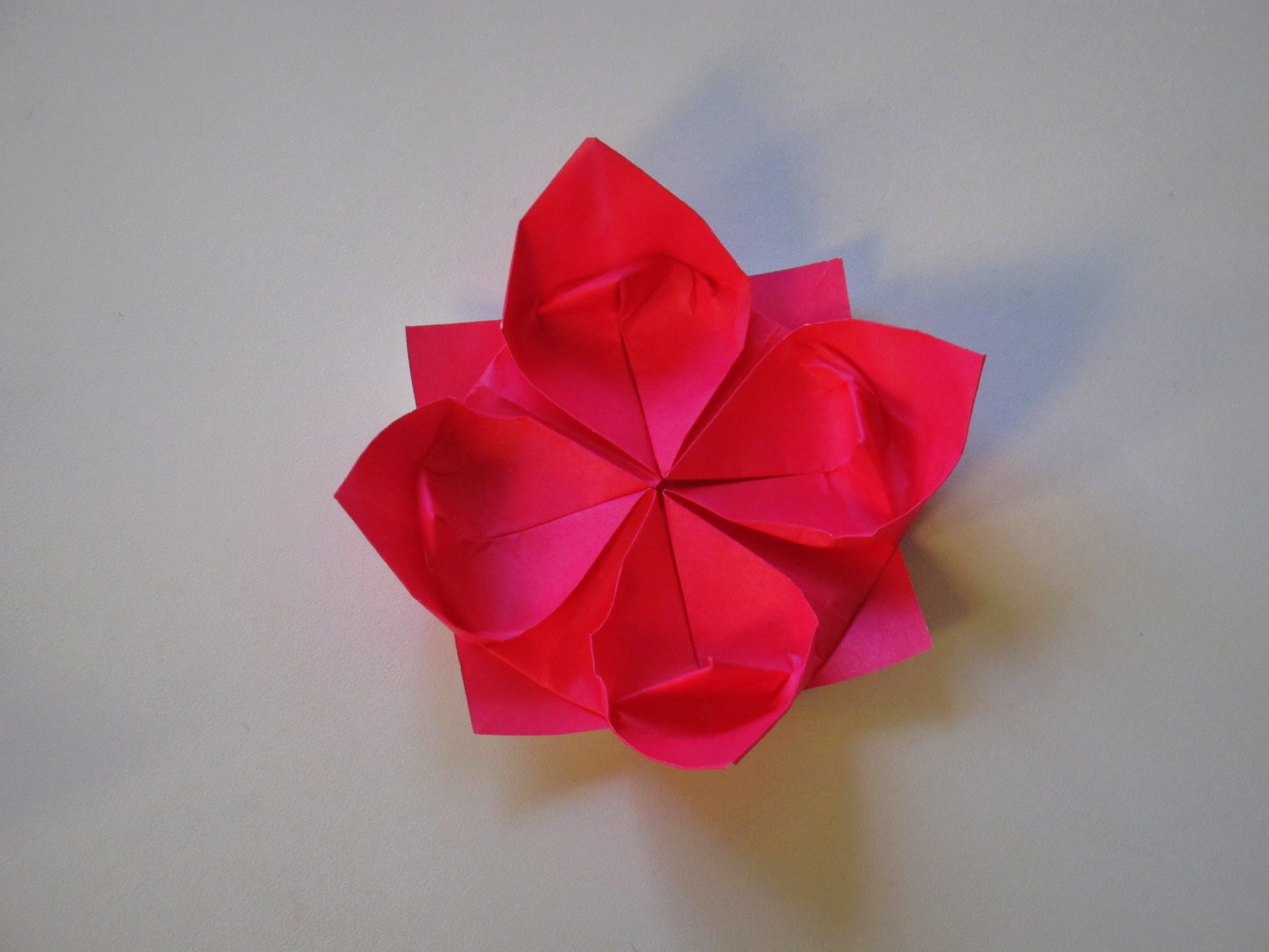 Origami - How to make a Lotus Flower