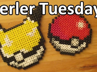 PERLER BEAD: Pokeball & Pikaball! (Giveaway #55) Tutorial & How To