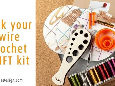 Pick your wire crochet jewelry making kit on www.YoolaDesign.com