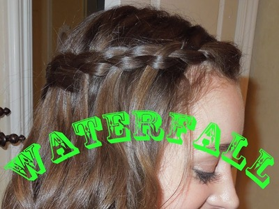 Pinterest Hairstyle: DIY Inside Out Waterfall Braid Step by Step Tutorial!!:)