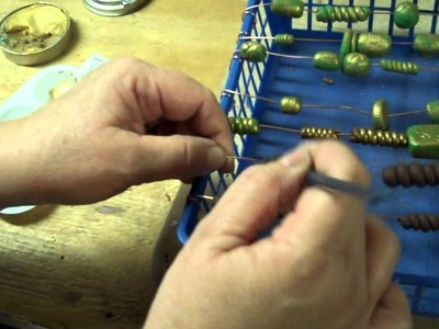 Polymer Clay Beads and Gilder's Paste, Making a Glazing Tray