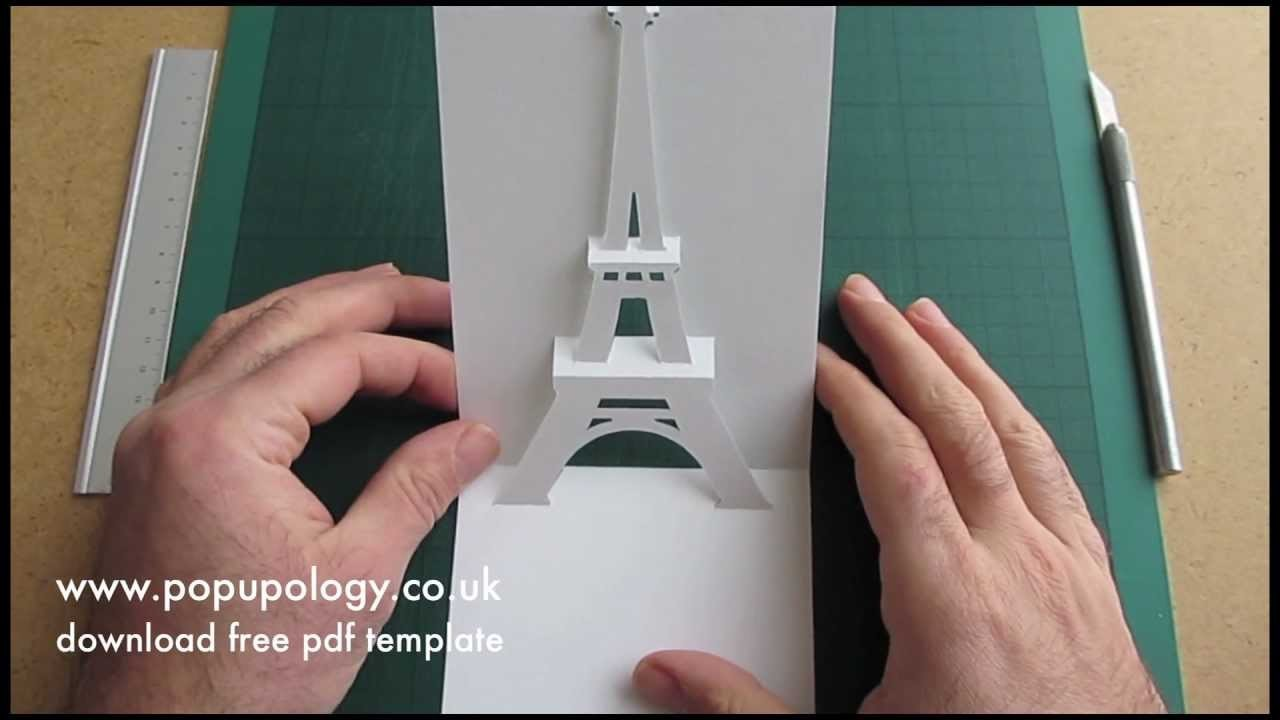 Pop Up Eiffel Tower Card Tutorial - Origamic Architecture