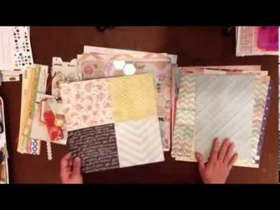 Power Scrapbooking: Creating a Kit from Your Scrapbook Stash. Day 24: 30 Days of Scrapbook Videos