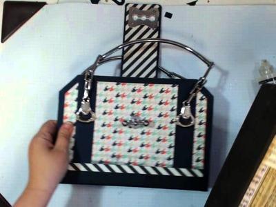 Purse Scrapbook, Happy Go lucky Handbag, Attaching the Hardware Part 3