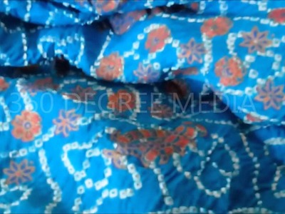 Rajasthani cloth - Tie and dye Leheriya  -- Handicraft hand woven organic weave and cloth