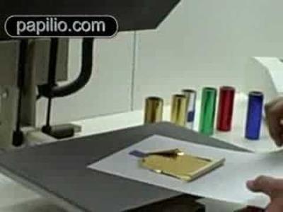 Scrapbooking gold, silver metal transfer foil