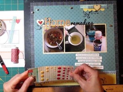 Scrapbooking Process - 1 Sketch 4 Ways Part 1