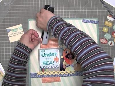 Scrapbooking Process: Under the sea