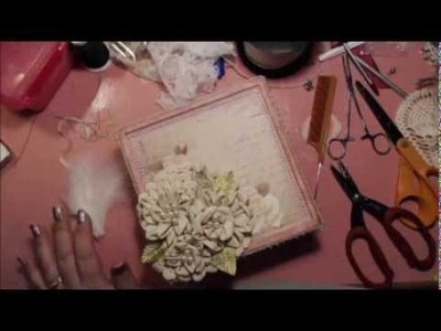 Shabby Chic Flower Tutorial with Decorative Box