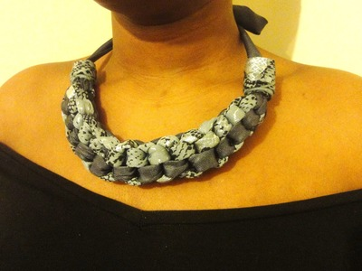 Straight Knot Necklace HowTo DIY -  Fabric Necklace