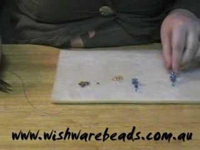 Swarovski Ball Earrings @Wishware Beading Classes Part 2.2