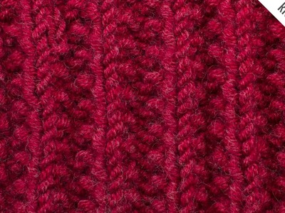 The Mistake Rib Stitch :: Knitting Stitch #529 :: Right Handed