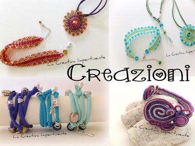Video Creazioni di luglio 2013 - soutache, wire crochet, fettuccia, twin beads, beadwork