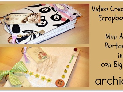 Video Creazioni | Portachiavi in pelle | Album Scrapbooking | Porta Notes DIY