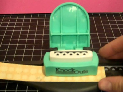 American Crafts Knock Outs Border Punch Tutorial