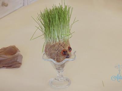 Arts & Crafts Tutorial: How to Make a Wheatgrass Head