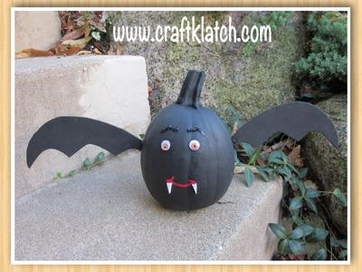 Bat Pumpkin for Halloween Craft Tutorial
