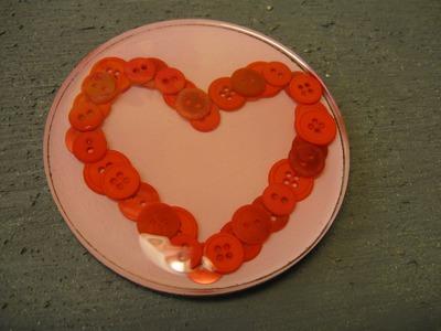 Button Heart Coaster Craft Tutorial