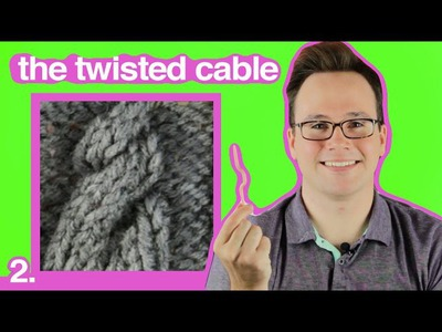 Cable Knitting 101: How to Make a Twisted Cable