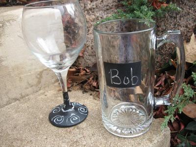 Chalkboard Glassware Craft Tutorial