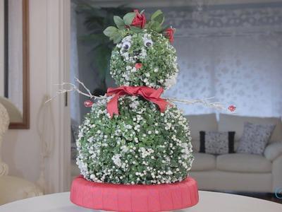 Christmas Arts & Crafts Tutorial: Little Green Snowman