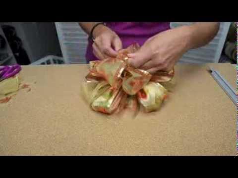 Craft Tutorial for Bowdabra Bow on Fall Wreath