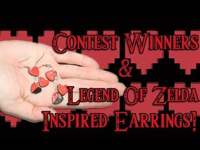 Craft Tutorial:  Polymer Clay Zelda Life Heart Inspired Earring and Contest Winners Geeky Friday