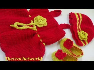 CROCHET  BABY SUMMER DRESS-1