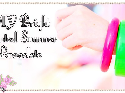 DIY Bright Painted Bangle - Craft Tutorial - Violet LeBeaux