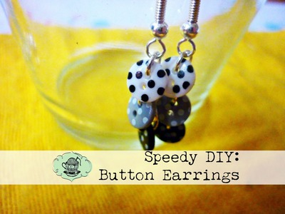 DIY Button Earrings ¦ The Corner of Craft