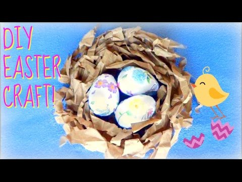 DIY EASTER CRAFT   Decorative Bird's Nest & Eggs