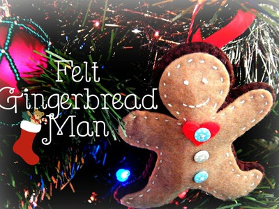 DIY Felt Gingerbread Man Decoration! ¦ The Corner of Craft