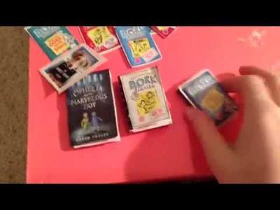DIY mini Barbie books craft!!