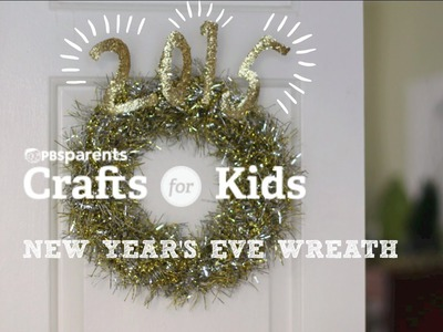 DIY New Year's Eve Wreath | Crafts for Kids | PBS Parents