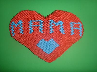 """DIY Origami 3D Herz """"MAMA"""" Geschenk zum Muttertag, Mother´s day Gift Ideas Heart Tutorial Anleitung"""