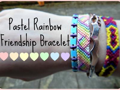 DIY Pastel Rainbow Friendship Bracelet Tumblr Inspired How To ¦ The Corner of Craft