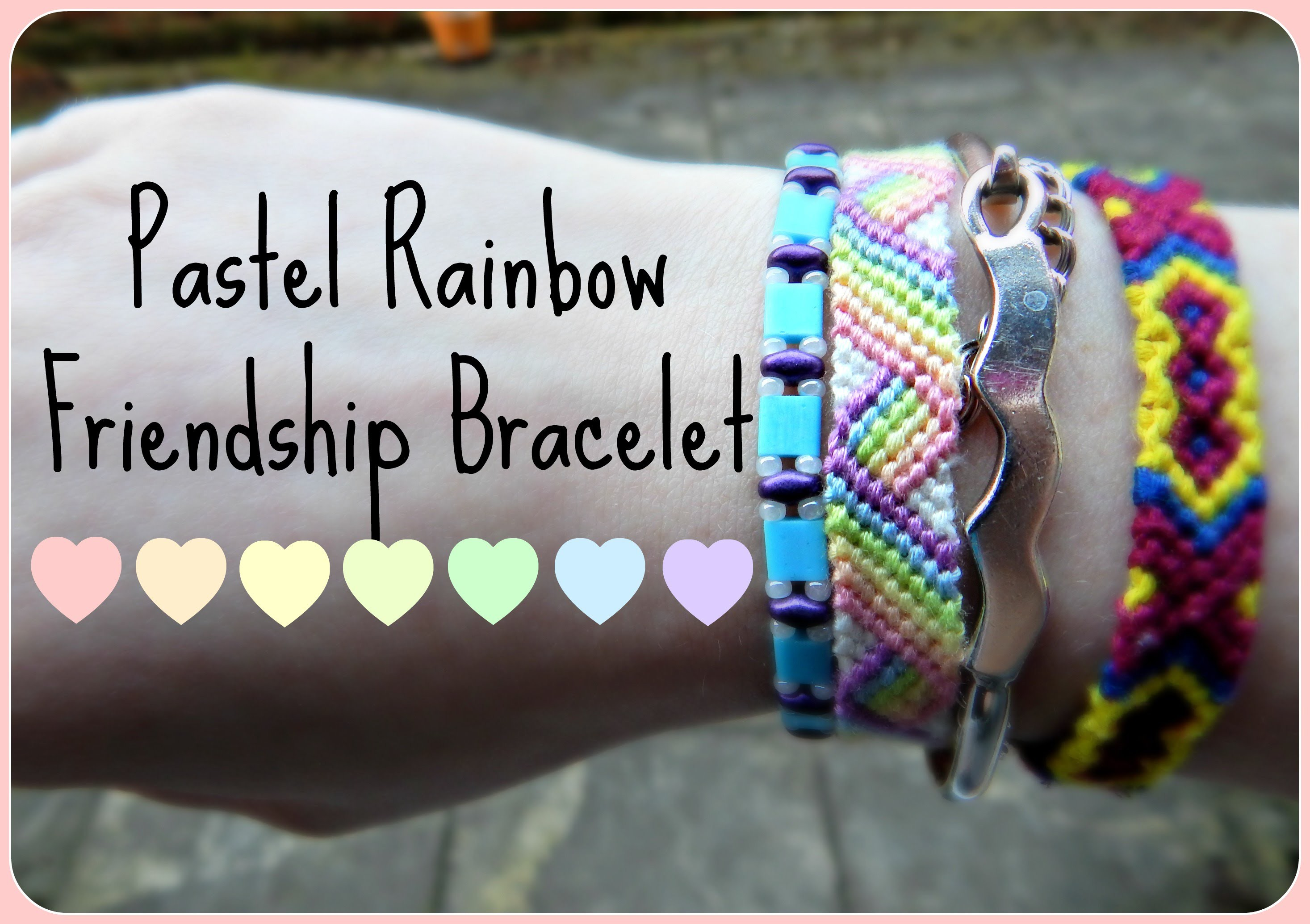 DIY Pastel Rainbow Friendship Bracelet Tumblr Inspired How To ¦ The Corner of Craft