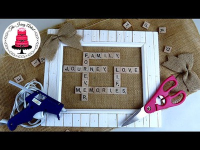 DIY Scrabble Tile Picture Frame - How To Crafts With The Icing Artist
