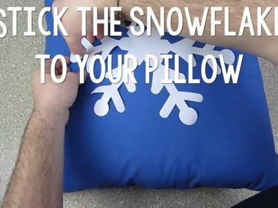 DIY Snowflake Pillows | Sizzix Teen Craft