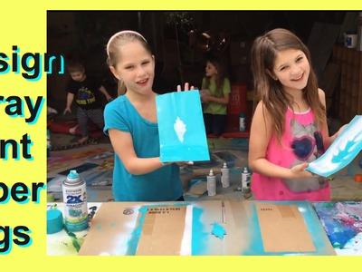 DIY Spray Painted Paper Bag | Simple and Easy Craft Art Fun DIY