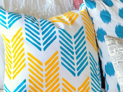 DIY Stenciled Pillow with Paint A Pillow