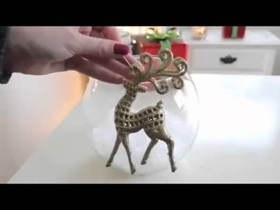 DIY Terrarium Holiday Glass Jar Vase Christmas Decoration Glass Craft 14 Easy and Thrfity!