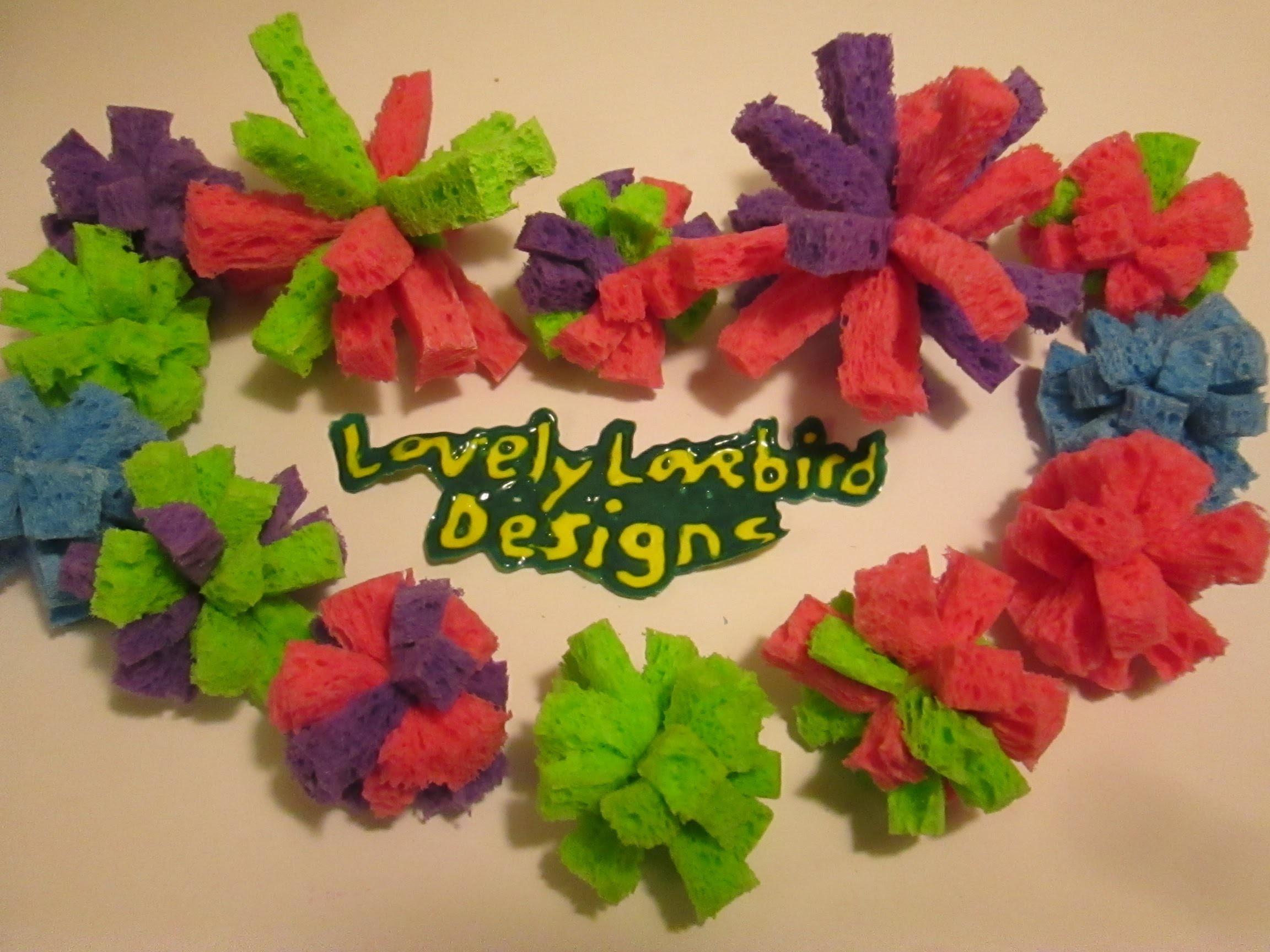 Diy Toy Sponge Pom Pom Ball Pencil Topper. Summer Crafts