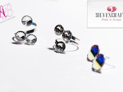 DIY Tutorial   Come assemblare un anello in argento 925 e cristalli swarovski - Silvexcraft
